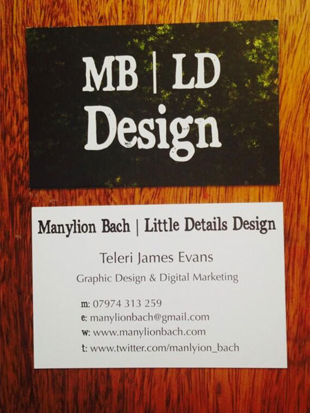 Tah dah! Manylion Bach | Little Details Design Business Cards are here! Have you got yours?