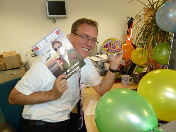 Happy 40th Birthday Geraint!