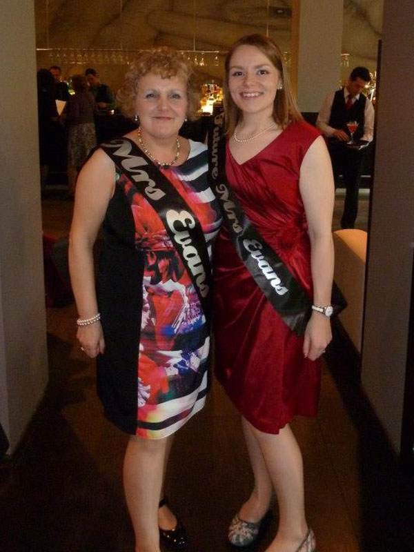 Black and silver sashes for 'Dress to Impress' hen party
