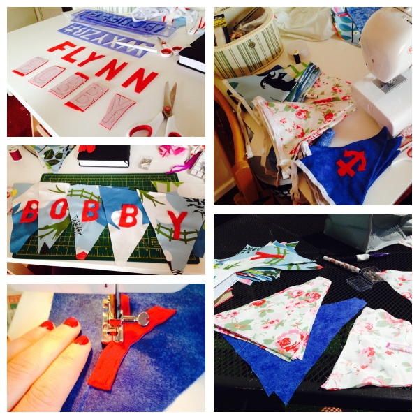Bunting in the making