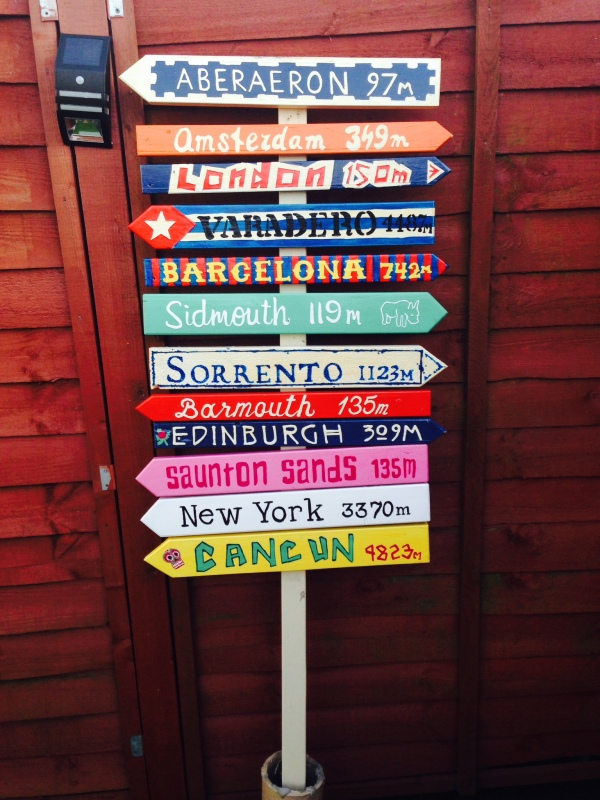 Holiday Destination Sign Post for the garden