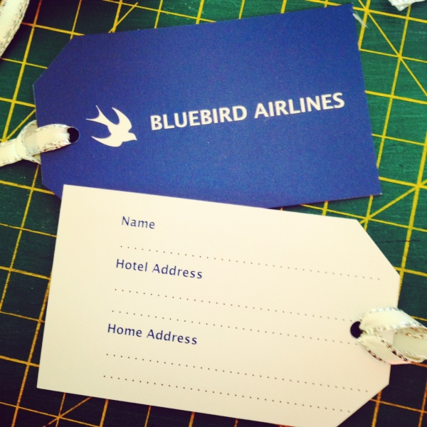 'Bluebird Airlines' Luggage Tag