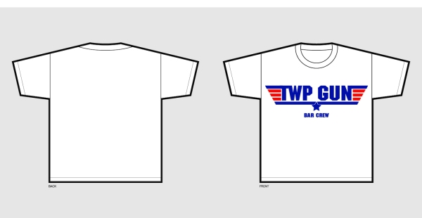 Twp Gun Tshirts for the Bar Staff