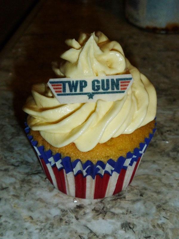 Twp Gun Birthday Cupcake