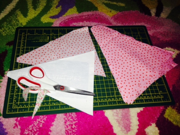 Cutting pennants with a template