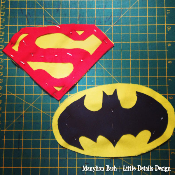 Superman and Batman Motif for apron