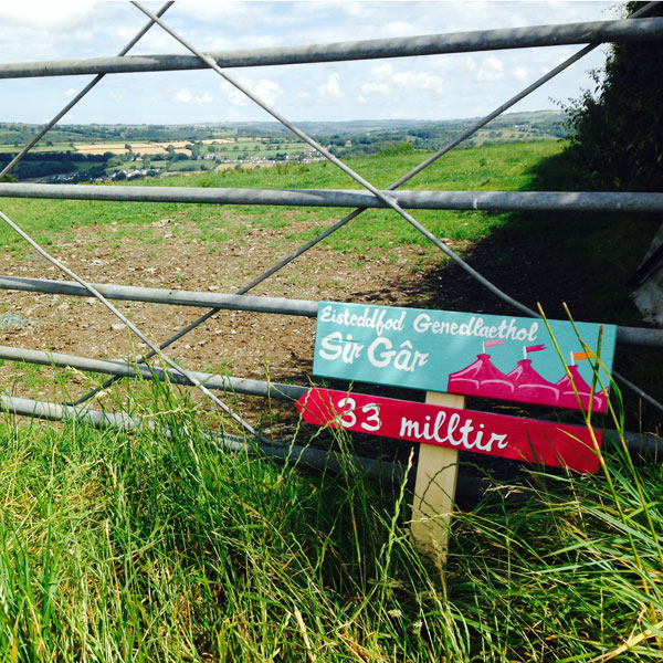National Eisteddfod of Wales, Llanelli, Carmarthenshire Sign