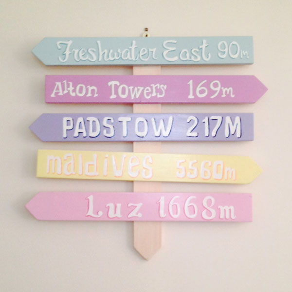 Pastel Holiday Destination Signs