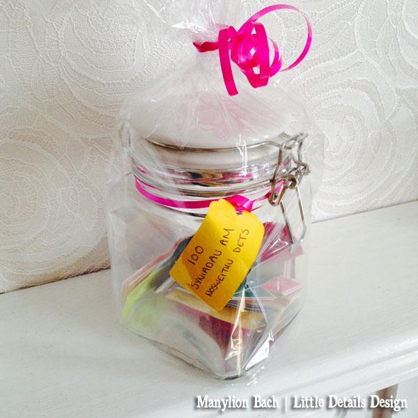 Date Jar - Minicards in a glass jar
